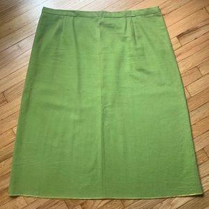 Dresses & Skirts - Vintage 60s/70s avocado green denim skirt, 1X
